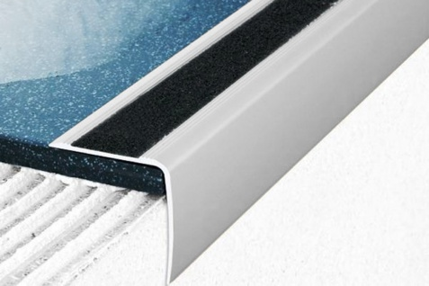 1, 2 Meter Winkel Eckprofil Alu Treppenleiste eloxiert Anti-Rutsch 35x35mm A43
