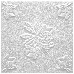 Sparpaket Deckenplatten Polystyrolplatten Stuck Decke Dekor Platten 50x50cm Flora