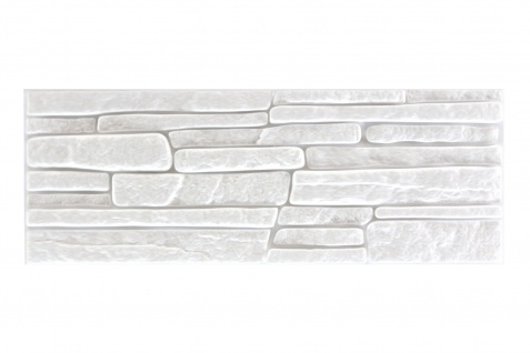 Sparpaket Verblender Polystyrolplatten weiß Stuck Wand Dekor Platten 48x18cm Rock