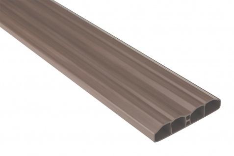 Zaunlatten Sparpaket | PVC | Gartenzaun | Balkonbretter | braun | PZL-09