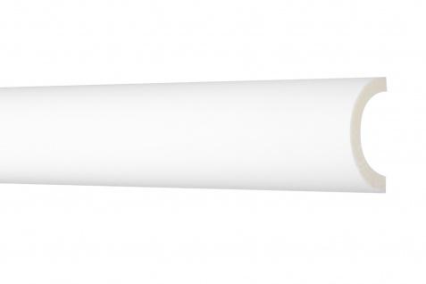 2 Meter Flachleiste 50x25mm - Stuckleiste aus PU glatt, stoßfest - Perfect AD371