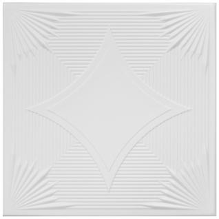 1qm Deckenplatten Polystyrolplatten Stuck Decke Dekor Platten 50x50cm Nr.75