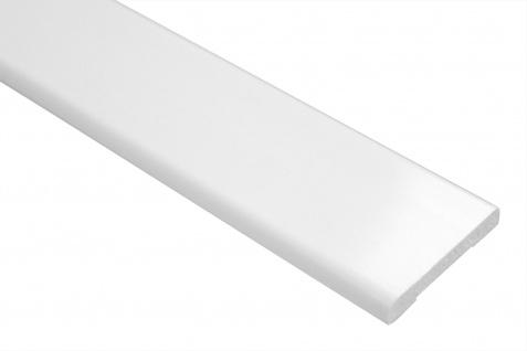 2 Meter | PVC Flachleiste | glatt | stoßfest| Effector | 6x40mm | F01