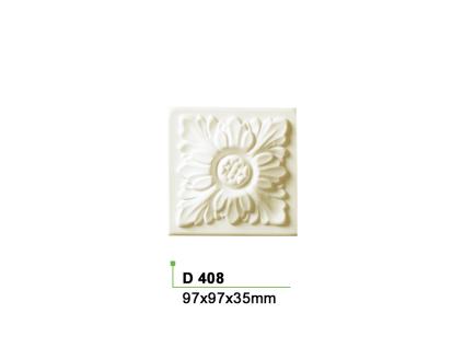 1 Dekorelement Türumrandung Eckelement Viereck Dekor stoßfest 97x97mm D408 - Vorschau 2