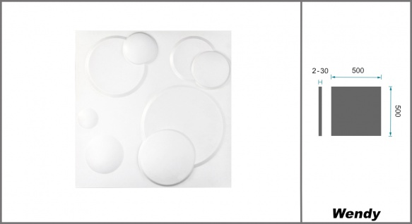 1 qm 3D Platten Natur Stuck ökologisch Paneele 3D Elite Panels 50x50cm Wendy - Vorschau 2