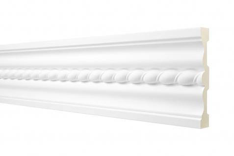 2M Flachprofil 126x25mm - Stuckleiste aus PU gemustert, stoßfest - Perfect AC277