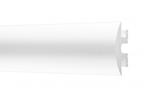 2 Meter Zierleisten LED HXPS Flachleisten Ecopolimer stoßfest hart Cosca 25x55mm CM10