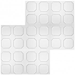 1 qm Deckenplatten Styroporplatten Stuck Decke Dekor Platten 50x50cm Nr.01 - Vorschau 3