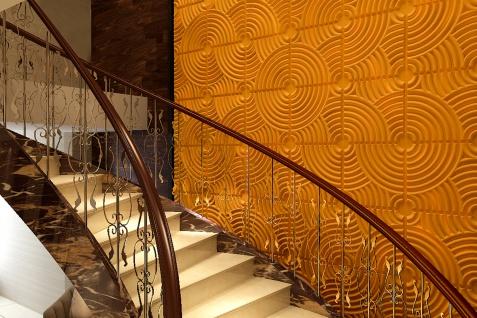 1 qm 3D Platten Natur Stuck ökologisch Paneele 3D Elite Panels 50x50cm Julia - Vorschau 5