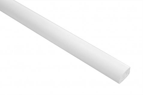 2 Meter PVC Flachleiste glatt stoßfestlanglebig Effector 8x13mm F07
