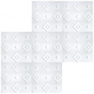 1 qm Deckenplatten Styroporplatten Stuck Decke Dekor Platten 50x50cm Nr.83 - Vorschau 3