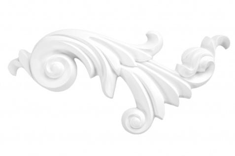 1 Ornament Dekorelement PU Stuckdekor Innen Wanddekor stoßfest 190x415mm, A607L/R