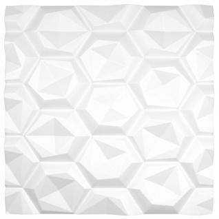 3D Wandpaneele Styroporplatten Wandverkleidung Wanddekor Verblender Hexagon Sparpaket - Vorschau 3