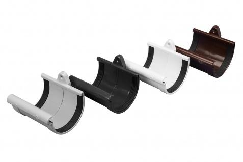 Rinnenverbindungsschale Regenrinne Regenrinnensystem PVC RainWay130