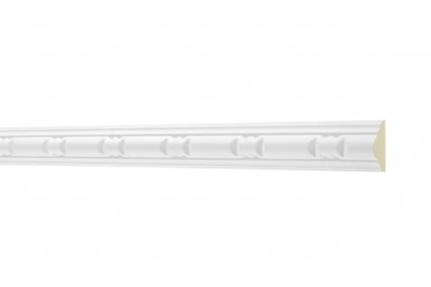 2M Flachprofil 22x10mm - Stuckleiste aus PU gemustert, stoßfest - Perfect AC257