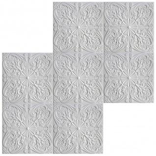 1 qm Deckenplatten Polystyrolplatten Stuck Decke Dekor Platten 50x50cm Nr.76 - Vorschau 4