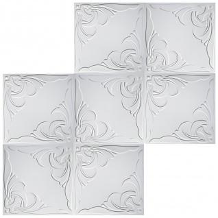 1 qm Deckenplatten Polystyrolplatten Stuck Decke Dekor Platten 50x50cm Nr.95 - Vorschau 3