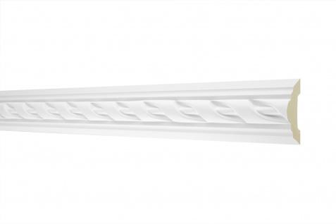2M Flachprofil 50x20mm - Stuckleiste aus PU gemustert, stoßfest - Perfect AC252