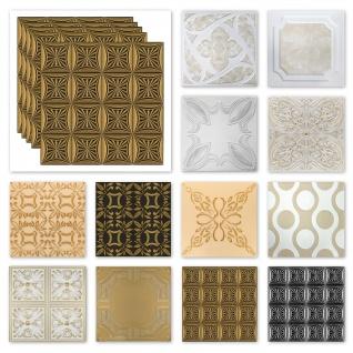 Deckenplatten Styropor XPS - farbig viele Motive 50x50cm - Sparpaket Nr.03 bis Nr.112