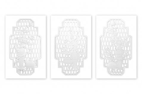 Wandornamente 80x45cm | Relief aus PU Kunststoff - leicht, stoßfest | K404