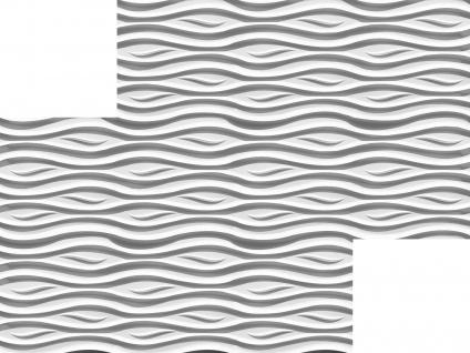 3D Wandpaneele Styroporplatten Wandverkleidung Wanddekor Paneele Fala 1 Platte - Vorschau 3