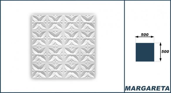1 qm Deckenplatten Polystyrolplatten Stuck Decke Dekor Platten 50x50cm Margareta - Vorschau 3