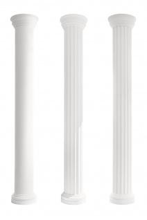 Säulen Halbsäule Fassade rund stabil Stuck Dekor Set Auswahl EPS 305mm LC102 - Vorschau 1