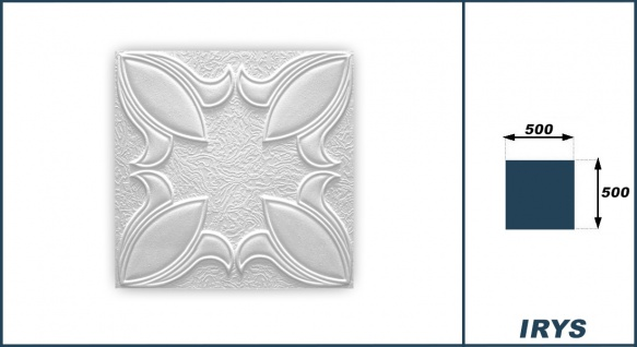 1 qm Deckenplatten Polystyrolplatten Stuck Decke Dekor Platten 50x50cm Irys - Vorschau 3