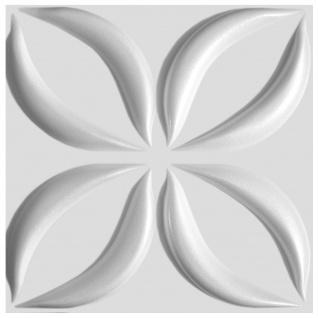 3D Paneele PS Platten Wand Decke Verkleidung Wandplatten Sparpaket 50x50cm Hexim Lotos