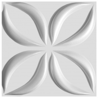 3D Wandpaneele Styroporplatten Wandverkleidung Wanddekor 60x60cm Lotos Sparpaket