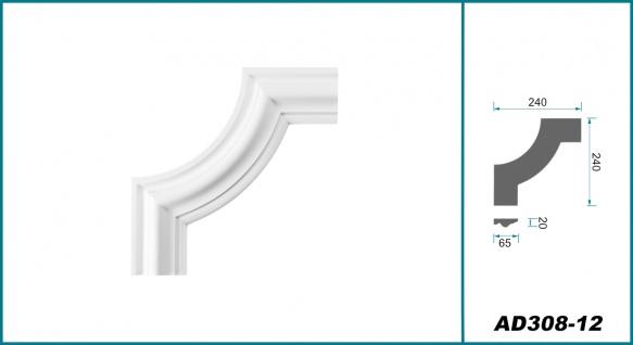 Wand- und Deckenumrandung   Fries   Stuck   Rahmen   stoßfest   AD308