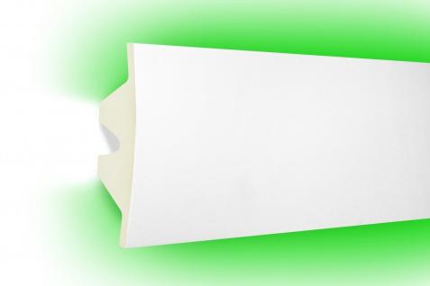 2 Meter LED Profile PU Stuck indirekte Beleuchtung stoßfest Tesori 100x45mm KF503