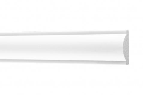 2 Meter Flachleisten HXPS Zierleisten Ecopolimer stoßfest hart Cosca 9x30mm CM17