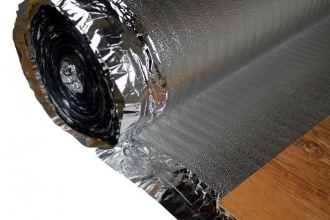 Trittschalldämmung - Dampfsperre | für Holzböden, Fußbodenheizung | Silver Plus