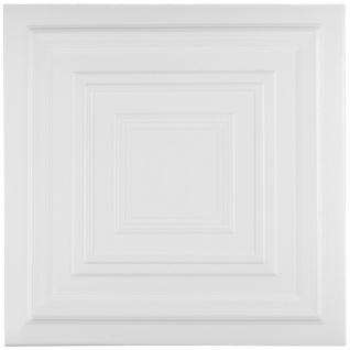 1 qm Deckenplatten Styroporplatten Stuck Decke Dekor Platten 50x50cm Nr.31