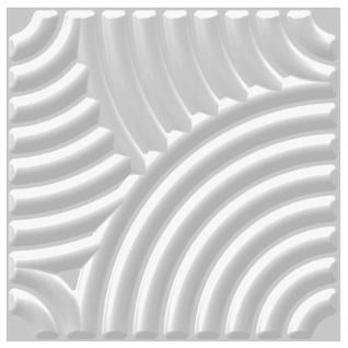1 qm 3D Platten Natur Stuck ökologisch Paneele 3D Elite Panels 50x50cm Julia