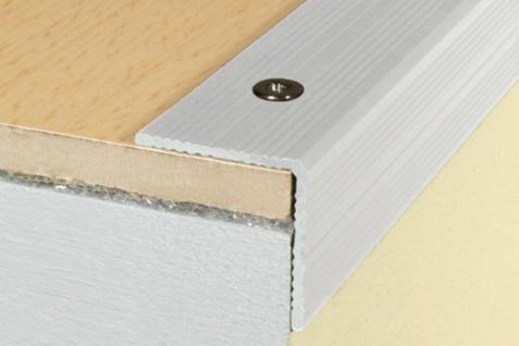 1, 2 Meter Winkel Eckprofile Alu Treppenleiste eloxiert rostfrei 25x25mm A40