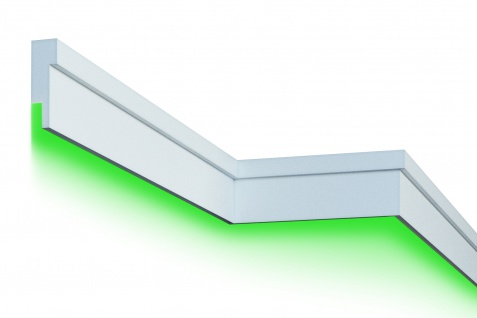 Fassadenleiste LED indirekte Beleuchtung stoßfest 45x140mm MC305