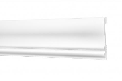 2 Meter Flachleisten HXPS Eckleisten Ecopolimer stoßfest Cosca 85x14mm CM29