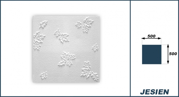 1 qm Deckenplatten Polystyrolplatten Stuck Decke Dekor Platten 50x50cm Jesien - Vorschau 3