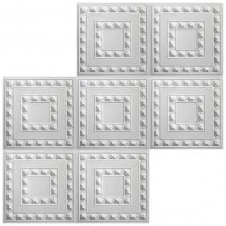 1 qm Deckenplatten Polystyrolplatten Stuck Decke Dekor Platten 50x50cm, Nr.06 - Vorschau 3