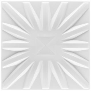 3D Paneele PS Platten Wand Decke Verkleidung Wandplatten Sparpaket 50x50cm Hexim Sun
