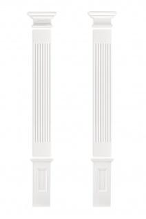 Pilaster Fassade Komplett Wand Bauteile Flachsäule Dekor PU stoßfest PL275