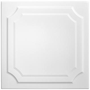 1 qm Deckenplatten Polystyrolplatten Stuck Decke Dekor Platten 50x50cm Nr.03