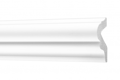 2 Meter Flachleisten HXPS Zierleisten Ecopolimer stoßfest hart Cosca 20x45mm CM18