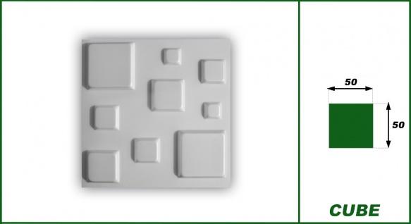 3D Wandpaneele Styroporplatten Wandverkleidung Wanddekor Verblender Cube Sparpaket - Vorschau 2