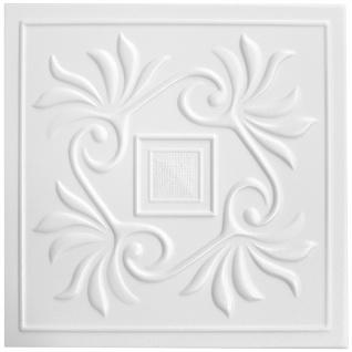 1 qm Deckenplatten Polystyrolplatten Stuck Decke Dekor Platten 50x50cm Nr.59