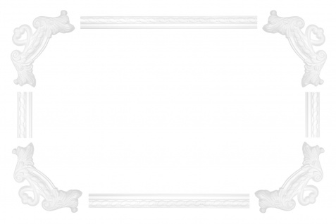 Wand und Deckenumrandung Fries Spiegel Bilderrahmen Stuck Dekor stoßfest AC264