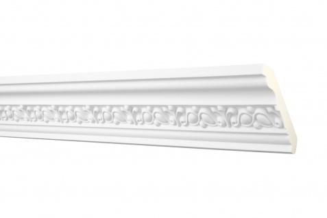 2 Meter Stuckprofil Zierleiste Eckleiste PU stoßfest Hexim Perfect 73x82mm AA 010