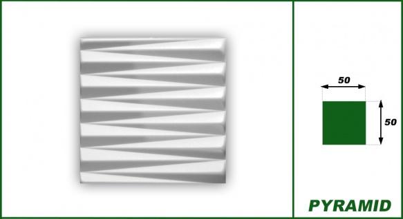 3D Wandpaneele Styroporplatten Wandverkleidung Wanddekor Verblender Pyramid Sparpaket - Vorschau 2